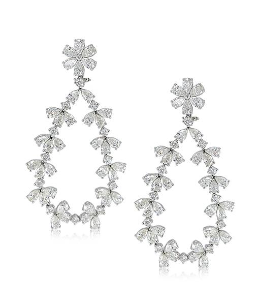 Zydo Diamond Drop Shaped Earrings