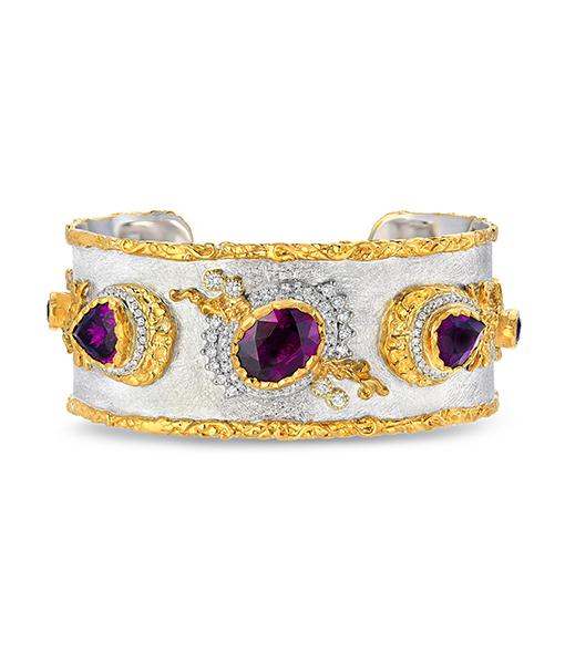 Purple Sapphire Cuff