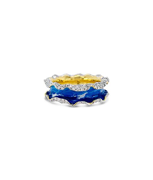 Victor Velyan Diamond Ruffle Ring