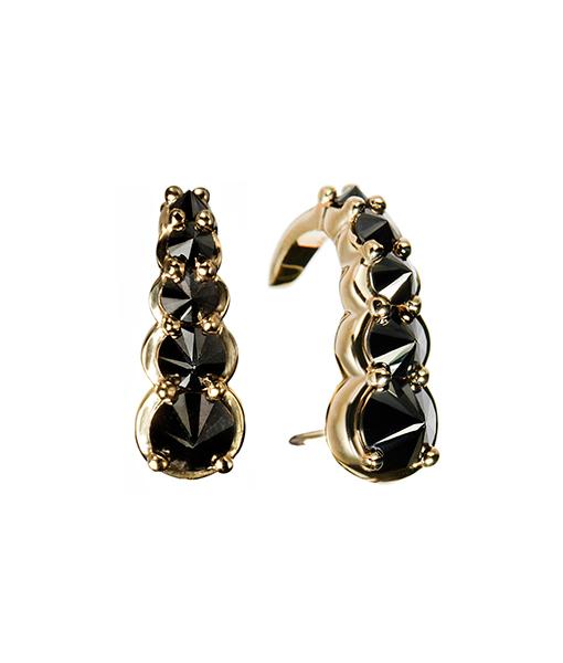 Ara Vartanian Black Diamond Hook Earrings