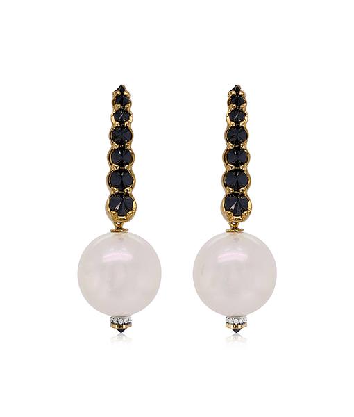 Ara Vartanian Pearl and Diamond Earrings
