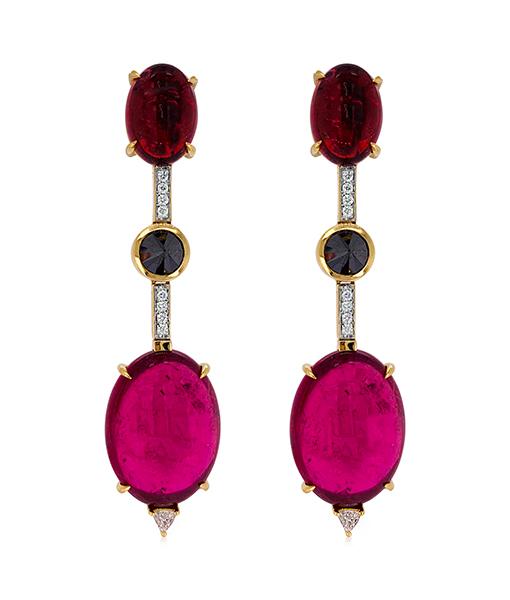 Ara Vartanian Tourmaline and Diamond Earrings