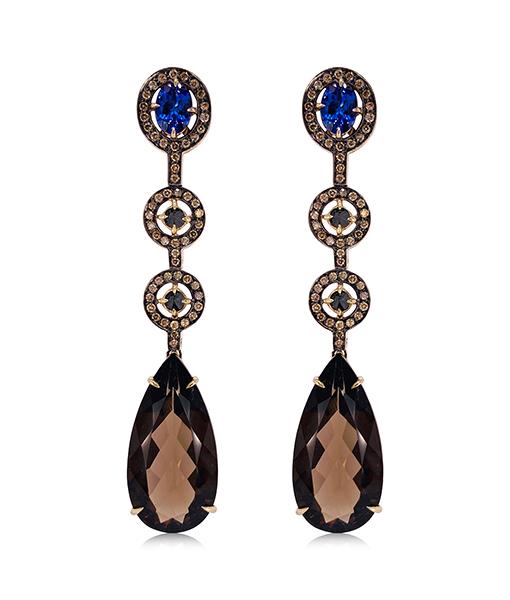 Ara Vartanian Quartz and Tanzanite Earrings