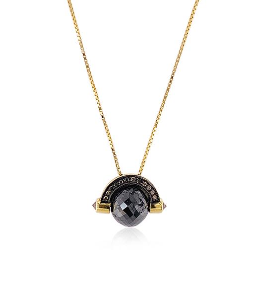Ara Vartanian Black and Brown Diamond Necklace