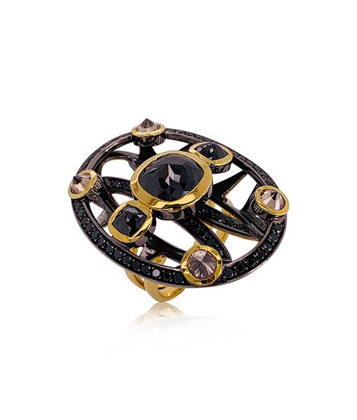 Ara Vartanian Black and Brown Diamond Ring