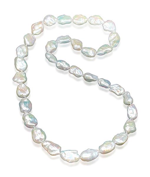 Cayen Double Strand FW Baroque Pearl Necklace