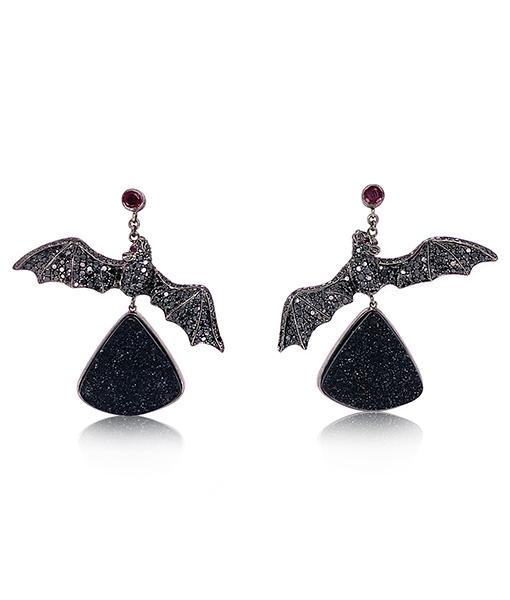 Lydia Courteille Bat Earrings
