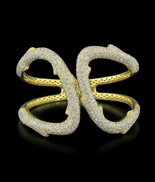 Damaso Hinged Diamond Branch Bracelet
