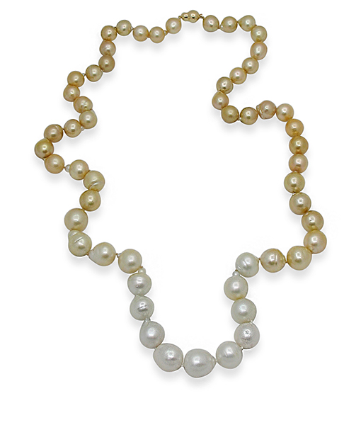 White Gold South Sea Pearls Necklace