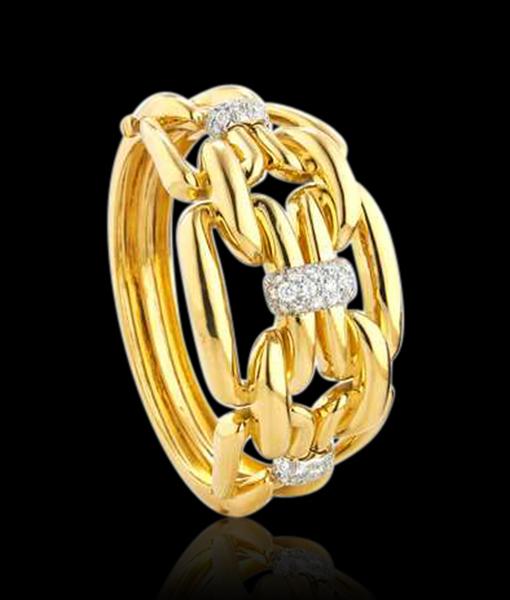 David Webb Chain Bracelet Diamond Platinum.