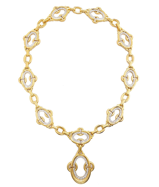 David Webb Diamond Nape Necklace