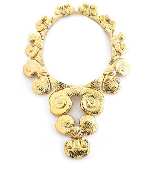 David Webb Cloud Collar Hammered Necklace