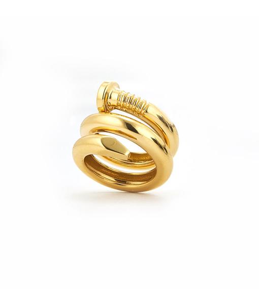 David Webb Polished Nail Ring