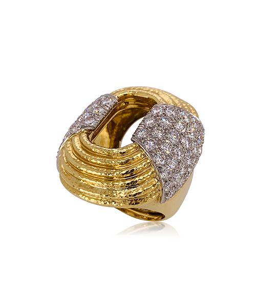 David Webb Brilliant cut Diamond Ring