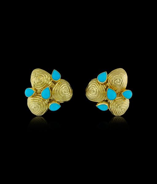 David Webb Zen Earrings