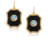 Erica Molinari Black Diamond Moonstone Drop Earrings