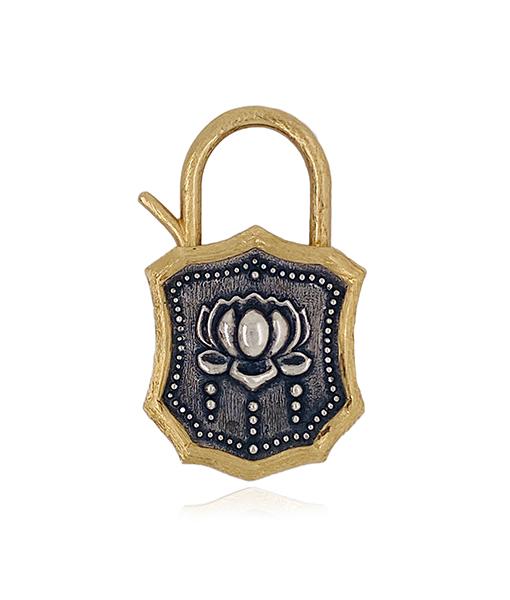 Erica Molinari Lotus flared padlock