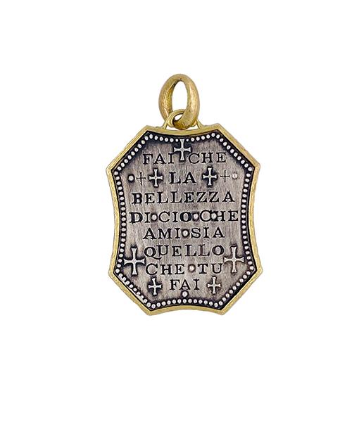 Erica Molinari Shield with Cross Diamond Pendant