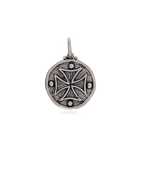 Erica Molinari Double Maltese Cross Diamond Pendant