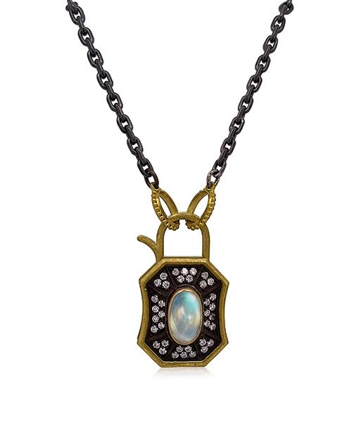 Erica Molinari Moonstone Diamond Necklace