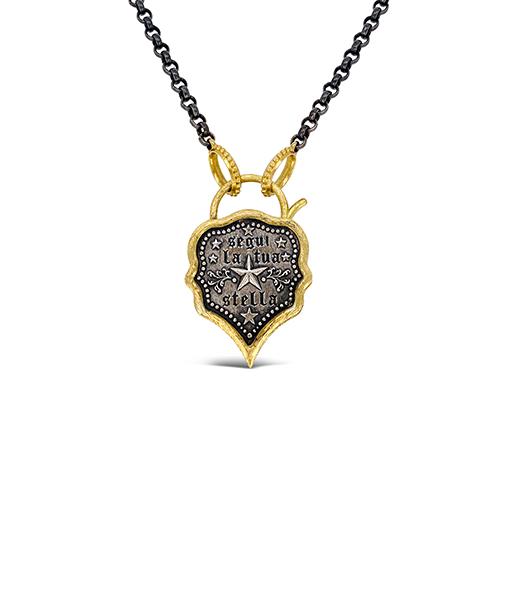 Erica Molinari Longhorn Skull Padlock Pendant