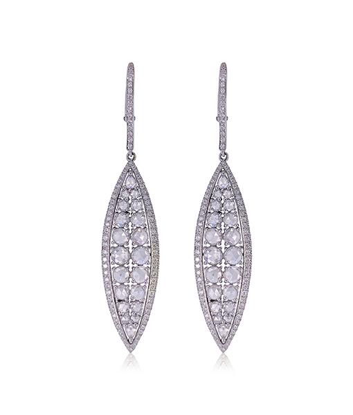 Etho Maria Rose Cut Diamond Earrings