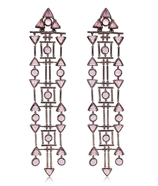 Etho Maria Pink Sapphire Earrings