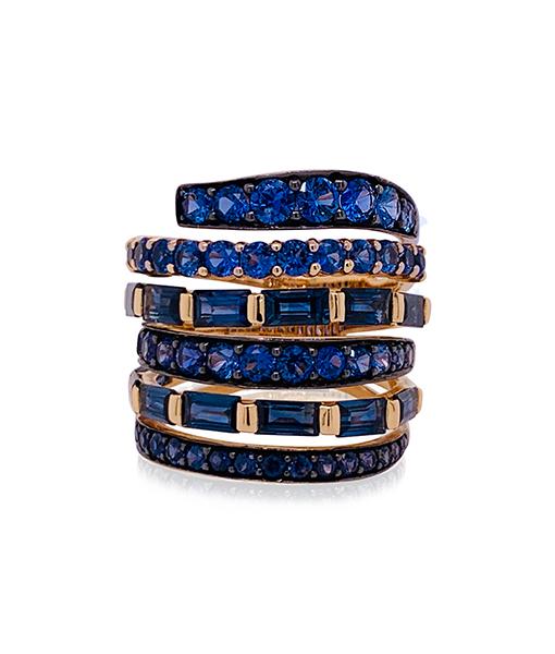 Etho Maria Blue Sapphire Diamond Ring