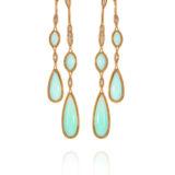 Fernando Jorge Chrysoprase Diamond Earrings
