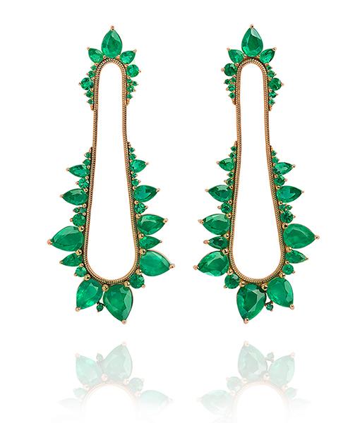 Fernando Jorge Electric Shock Emerald Earrings
