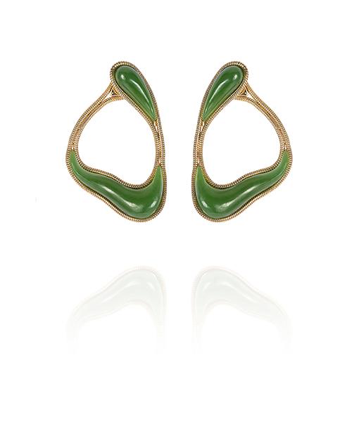 Fernando Jorge Stream Loop Nephrite Earrings