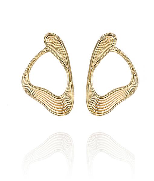 Fernando Jorge Stream Lines Large Loop Earrings