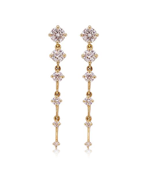 Fernando Jorge Sequence Short Diamond Earrings