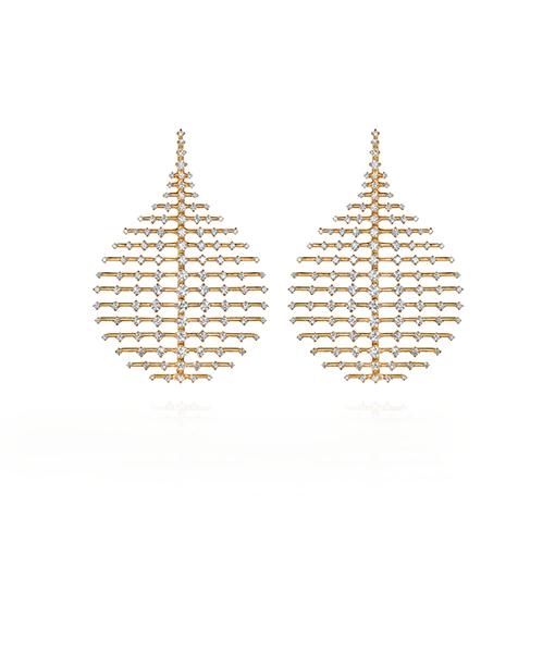 Fernando Jorge Medium Disco Diamond Earrings