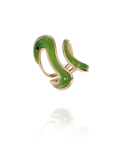 Fernando Jorge Stream Nephrite Jade Ring