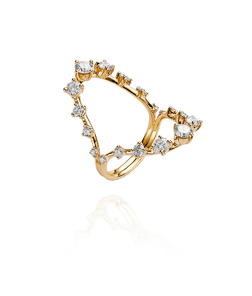 Fernando Jorge Brilliant Open Diamond Ring Italian jewelry house ZYDO,features a collection of classic and avant-garde jewelry styles.Their collection of expandable Diamond bands and bracelets is one of the most versatile additions to our jewelry salon in 2017 Zydo Diamond Ring SOLD!