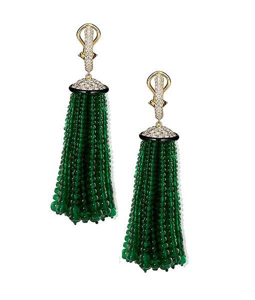Goshwara Emerald Diamond Earrings