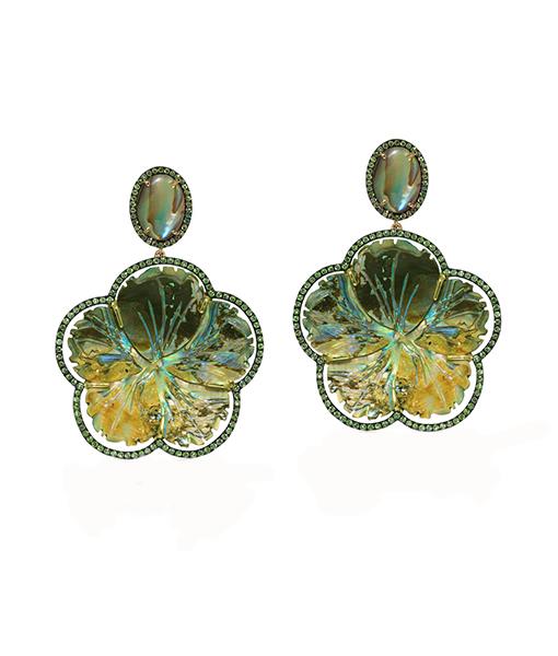 Goshwara Pearl Tsavorite Earrings