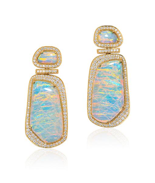 Goshwara Free Form Opal Earrings
