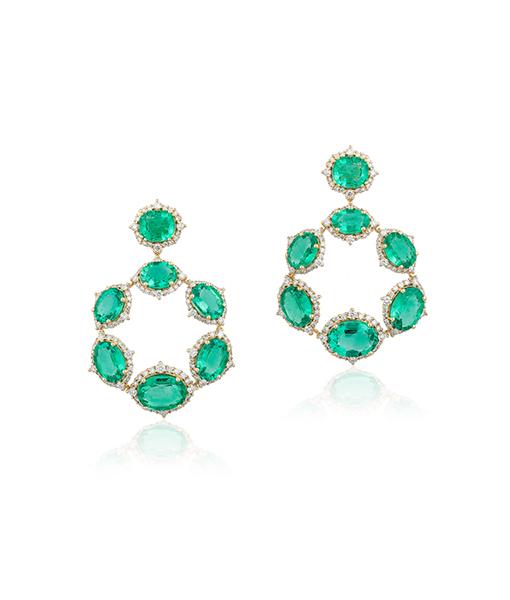Goshwara Emerald Diamond Earring