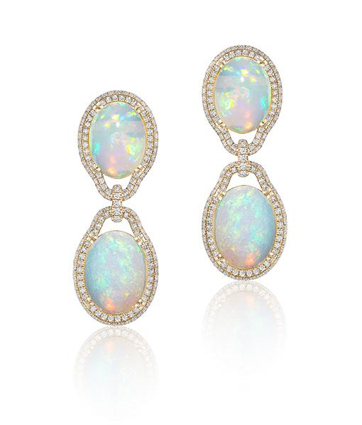 Goshwara Opal Diamond Earrings SOLD!