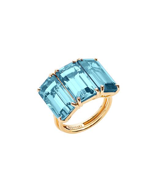 Goshwara Blue Topaz Ring