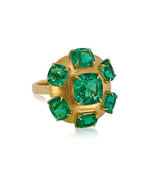 Goshwara Emerald Ring