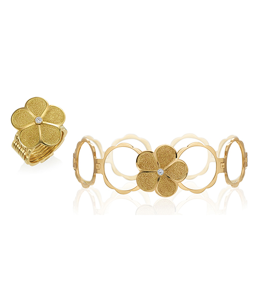 Gumuchian Hammered Daisy Ring Cycle Bracelet