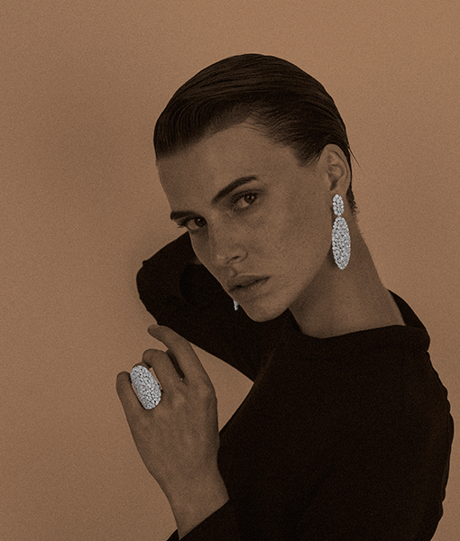 Classic Etho Maria Ring and Earring combo. Available in Diamond, Blue Sapphire and Ruby. Just choose your favorite!.