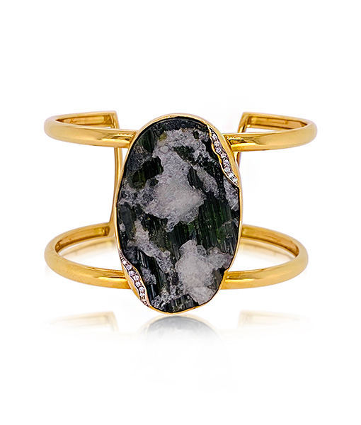 Jorge Adeler Green Tourmaline Diamond Cuff
