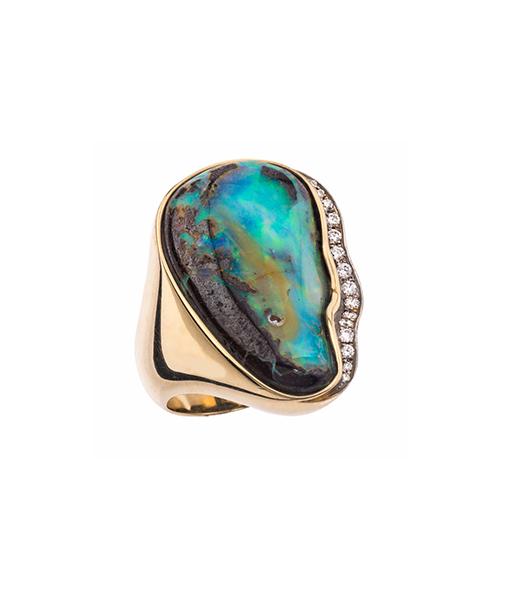 Jorge Adeler Black Opal Diamond Ring