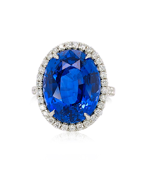 Cayen Collection Sapphire and Diamond Ring #