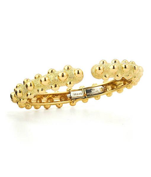 David Webb Kingdom Collection Textured Bracelet
