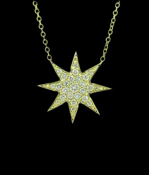 KC Starburst Diamond Necklace